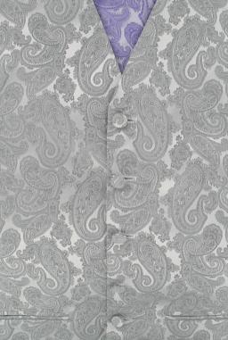 Bath Paisley Silver