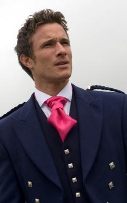 Fuchsia Scrunch Tie