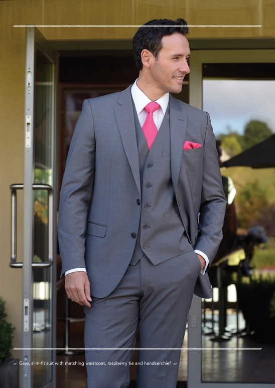 Formal hire silver grey also available in navy