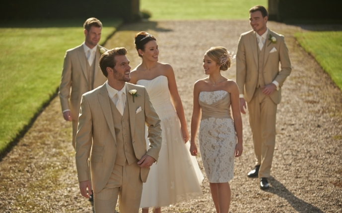 Sand Mohair with matching waistcoat
